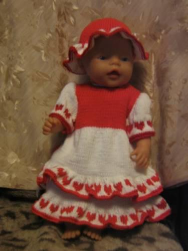 Платье и шляпка для куклы.